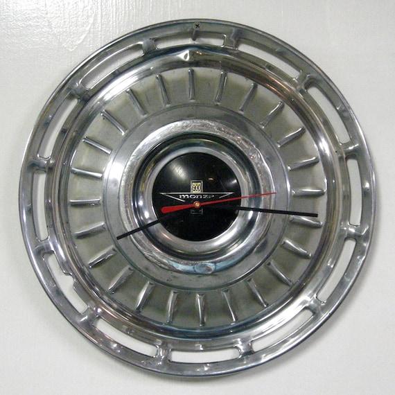 chevy corvair monza hubcap clock 1962 1963 chevrolet wall