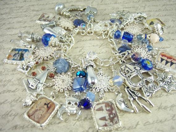 Magic Wiccan Witch Charm Bracelet Goddess Pagan Jewelry HOLIDAY SALE
