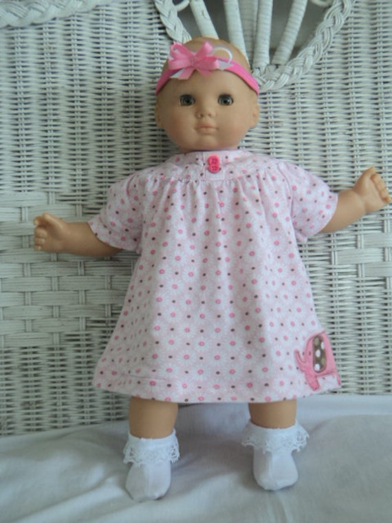 Bitty Baby Girl  Dress outfit  with headband and socks