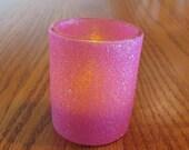 Hot pink glitter  votive