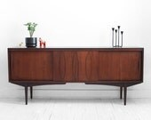 Vintage Walnut Credenza - Mid Century, Modern, Wood, Buffet, Cabinet, Dresser