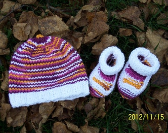 Hip Baby Beanie and Booties