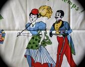 Vintage 1940s 1950s Coquettish Maid Tea Towel Fashion