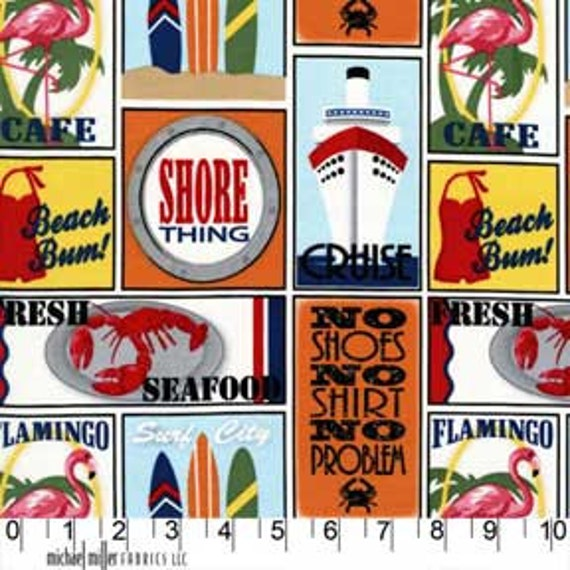 Seaside Travel Stickers, Shore Thing, Michael Miller