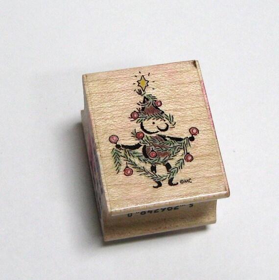 Christmas Elf Rubber Stamp - DESTASH - Elf Rubber Stamp - Christmas Stamp