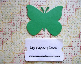 50 Green Butterfly Die Cuts- 2 inch cardstock-  Free Secondary US Shipping