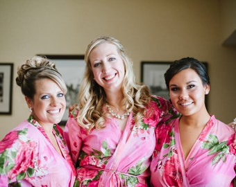 Bridesmaids robes Kimono Crossover Robes Spa Wrap Perfect bridesmaids gift, getting ready robes, Bridal shower, wedding favors