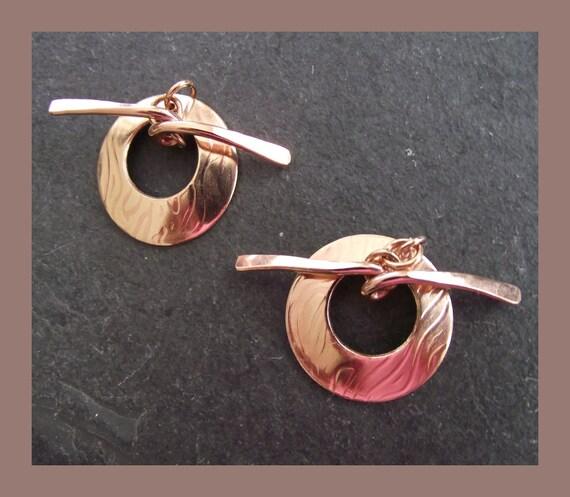 Pure Bronze Toggle Clasp - handmade