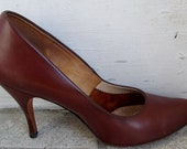 Vintage 1950s Town Country Kitten Heel Pumps Shoes 6 1/2 to 7