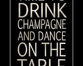 Time To Drink Champagne Poster Print 16x20