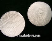 White Straw Fascinator Millinery Hat Base with Comb