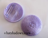 Lilac Lavender Straw Fascinator Millinery Hat Base with Comb