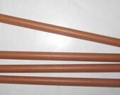Vintage Bakelite Catalin Round Rods  in a  Tan/Brown