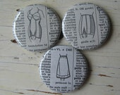 Unmentionables Vintage Dictionary Magnet Set of 3