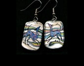 Greyhounds in the Land of Bright Stripes Earrings.