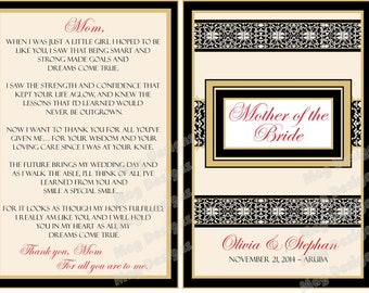 Mother of the Bride Wine Label - Elegant Bridal Party Gifts - Custom Wine Labels for each member of your Grooms or Bridal Party