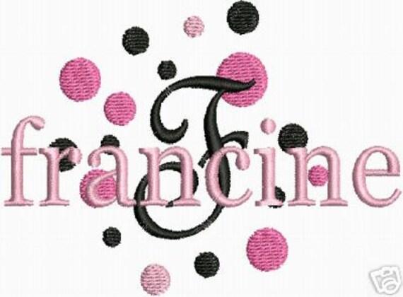 KAREN custom listing Machine Embroidery Designs Fun Dots Fonts PES