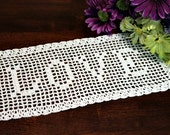 Beautiful Crochet Name Doily 2