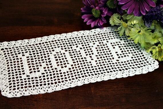 Beautiful Crochet Name Doily 2