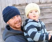 Knit Hat PATTERN ... PDF file ... Chunky Brimmed Stull Cap ... instant download