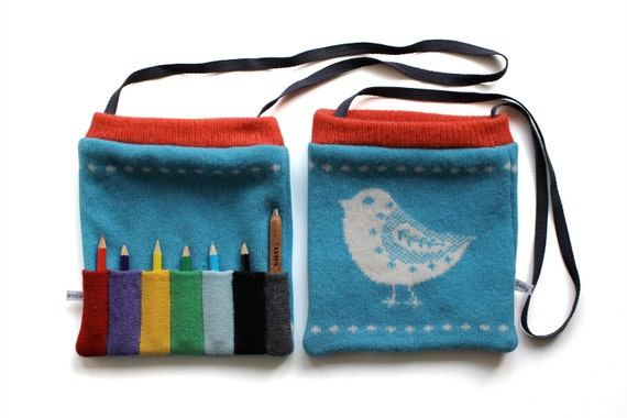 Knitted Little Lambswool Picture Pencil Bag