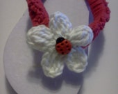 Girls Flip Flops - Made to Order - White Flip with Button