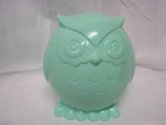 Baby Owl Bank Mint Green