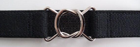 Retro 80s-style Black Elastic Belt