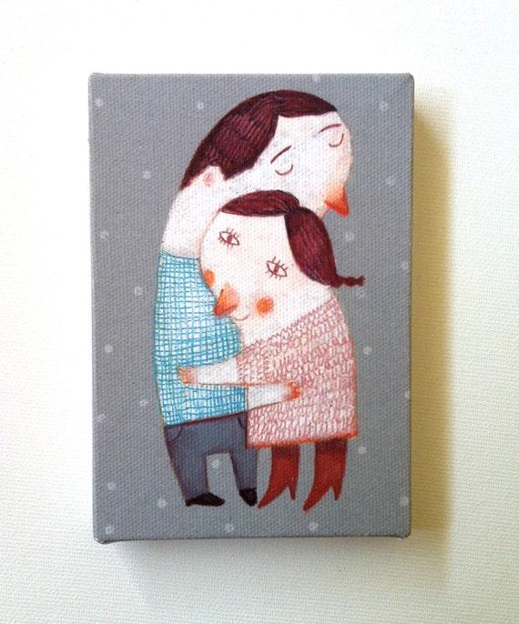 Just love me / Tiny canvas print