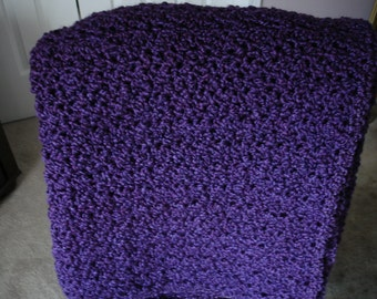 Amethyst Afghan Throw Blanket, Sofa Throw