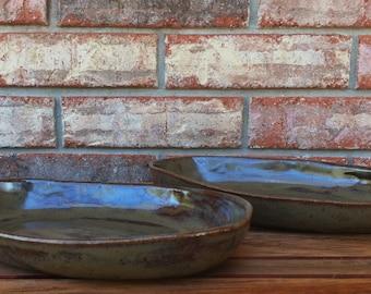 Handmade Mojave Dusk Ceramic 6 ounce Burrito, Pasta, Rice, Vegetable, Oatmeal or Ice Cream Bowls ~ Set of 2