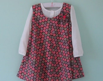 Special price!! Just 45 dollars!  Beautiful liberty lawn jumper with flower decoration Age 4 years