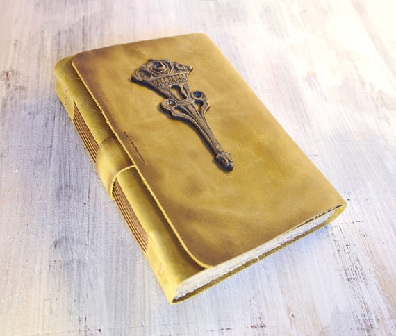 RESERVED - Leather Art Journal, Vintage Style - The Scepter