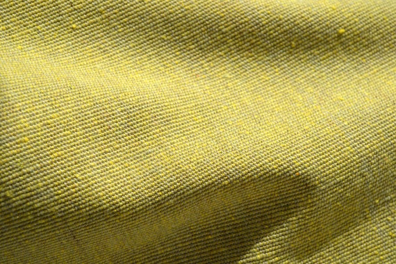 Vintage Fabric - Mid Century Upholstery in Lemon Lime - 55 x 36
