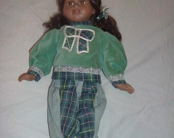 vintage black   16 inch doll number 1206 on her neck