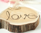 Love Tree Ring Bearer Pillow - Wood Ring Bearer Pillow - Perfect for Outdoorsy Couple - PINTEREST Hot Item
