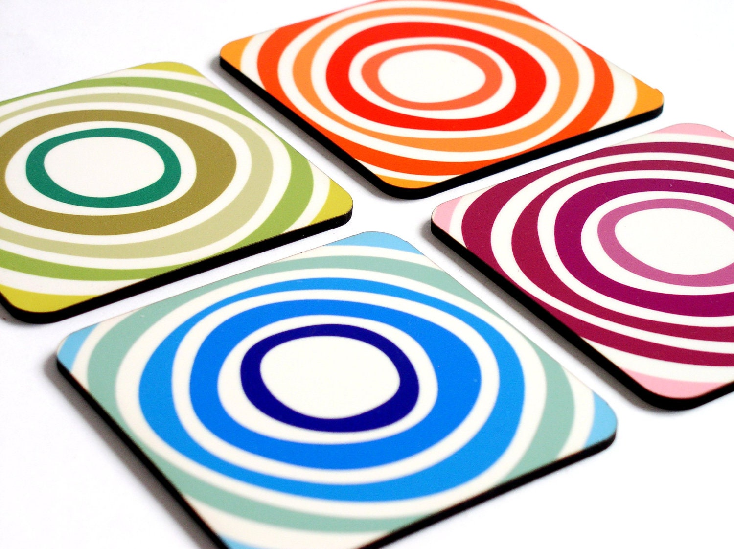 Drink Coasters Modern Geometric Abstract Design By