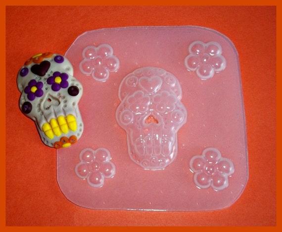 SALE Jodys Sugar Skull Plastic Resin Mold