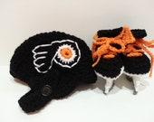 Philadelphia Flyers Helmet and Ice Skate Booties, NHL Flyers, Hockey Skates