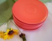 Saucers, Tangerine set of 8