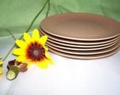 Plates Vintage 5 3/4 inch Milk Chocolate set of 6
