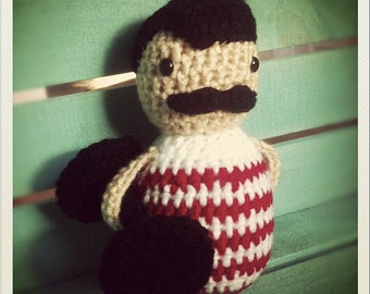 Crocheted Strongman Doll