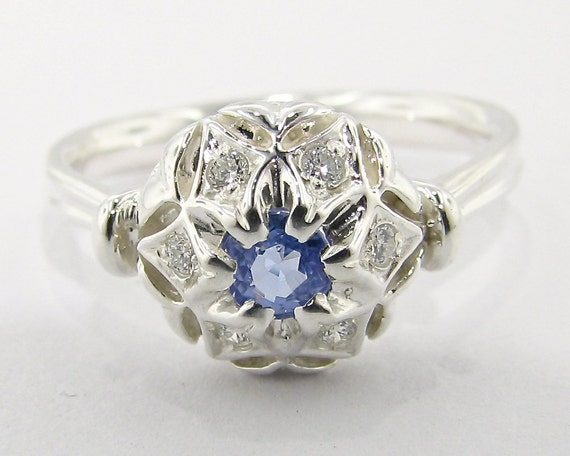 Bisnonna's Ring, blue and silver