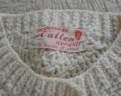 Vintage Unisex Irish Wool Sweater Fishermen's Cardigan, 1960s Hand knit, Fair Isle, Irish Knit, Clothing, Buttondown