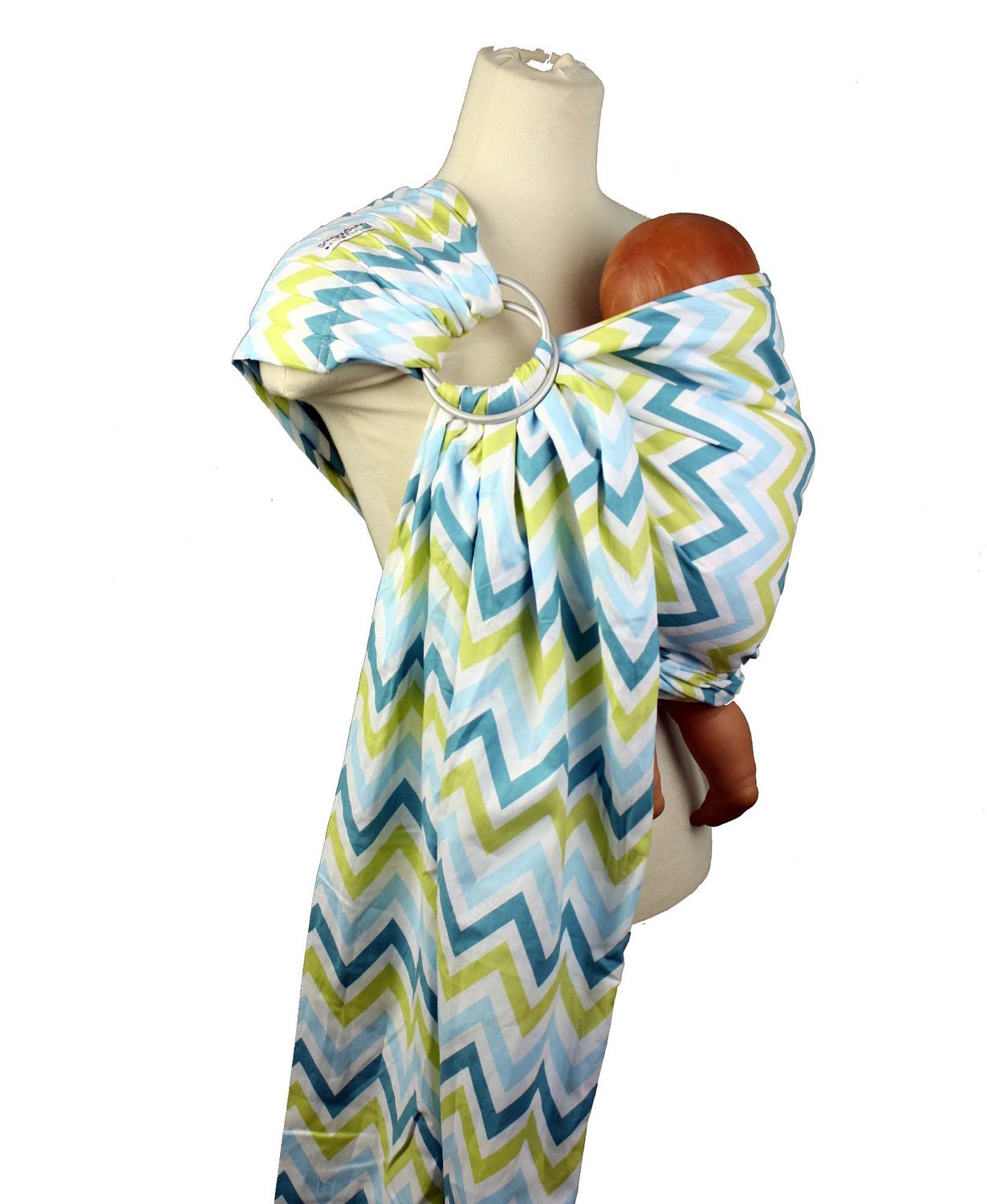 Baby Carrier Ring Sling Baby Sling Blue Chevron