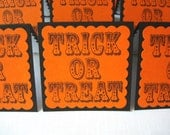 Mini Cards - Blank Halloween Tags - Gift Cards - Trick or Treat (Set of 6)
