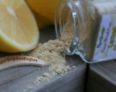 Organic Lemon Face Scrub - vegan facial cleanser  - Natural and eco-friendly Facial Breakfast SAMPLE