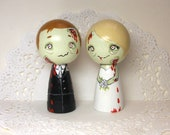 Reserved for Jennielockwood Zombie Wedding Cake Toppers