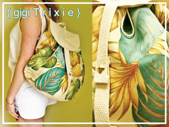 Equator Tropical Backpack, Large Canvas Bag