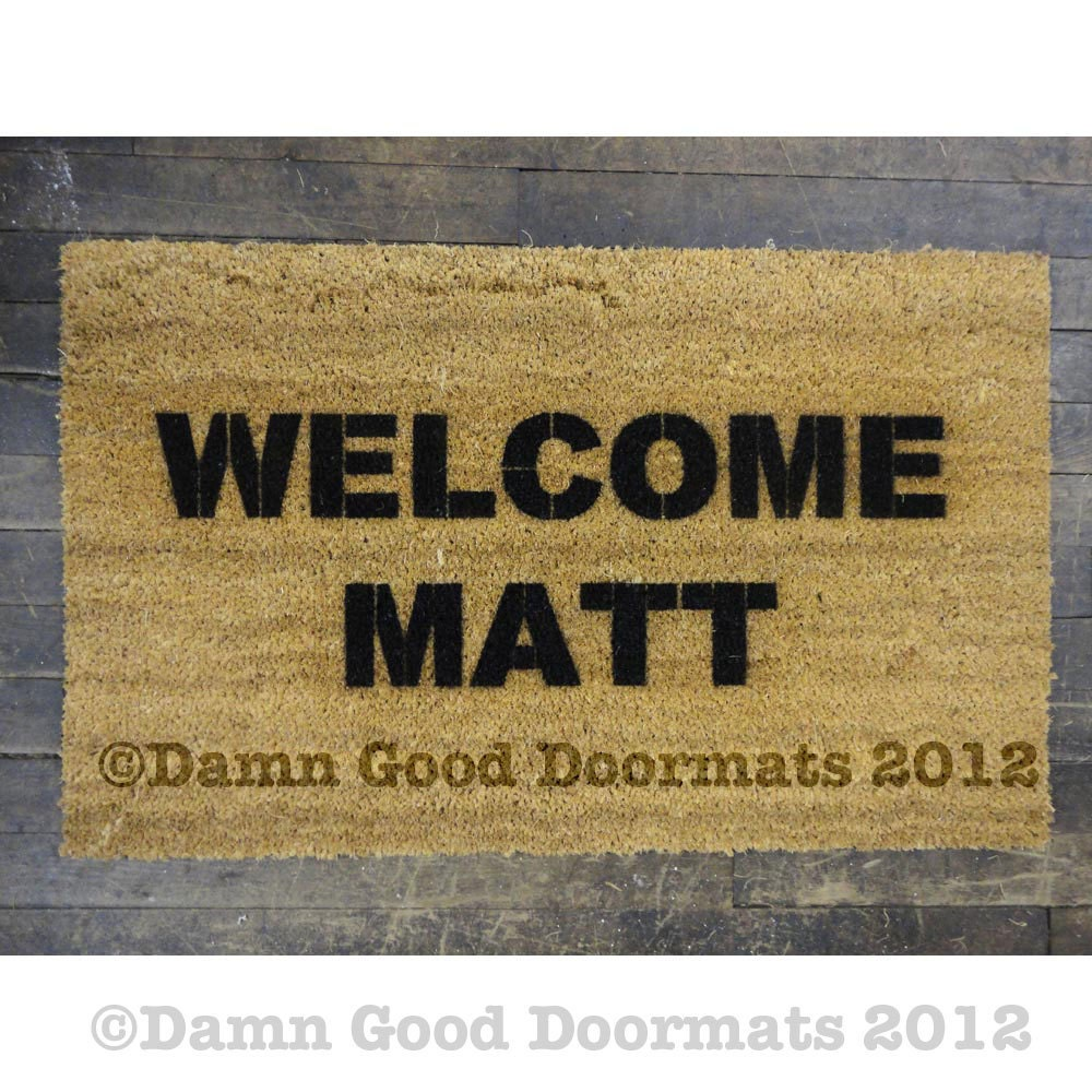 Welcome Matt Welcome Mat Doormat By Damngooddoormats On Etsy